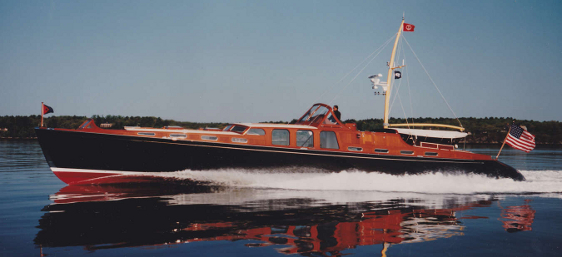 Liberty, 80' high-speed cold-molded motoryacht