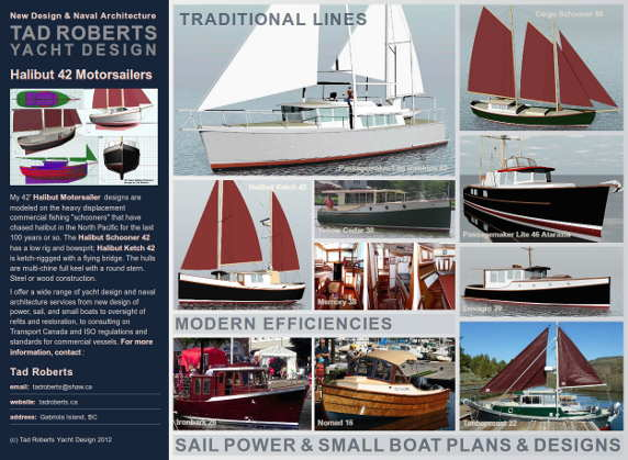 Tad Roberts Yacht Design 2012 Poster