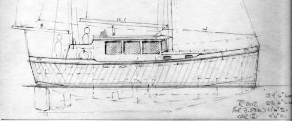 Dean 345 Motorsailer,Traditional Aluminum Ketch