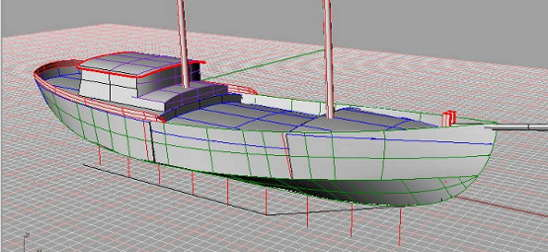 60' Steel Cargo Schooner, CAD drawing planview