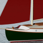 24' Raised Deck Canoe Yawl