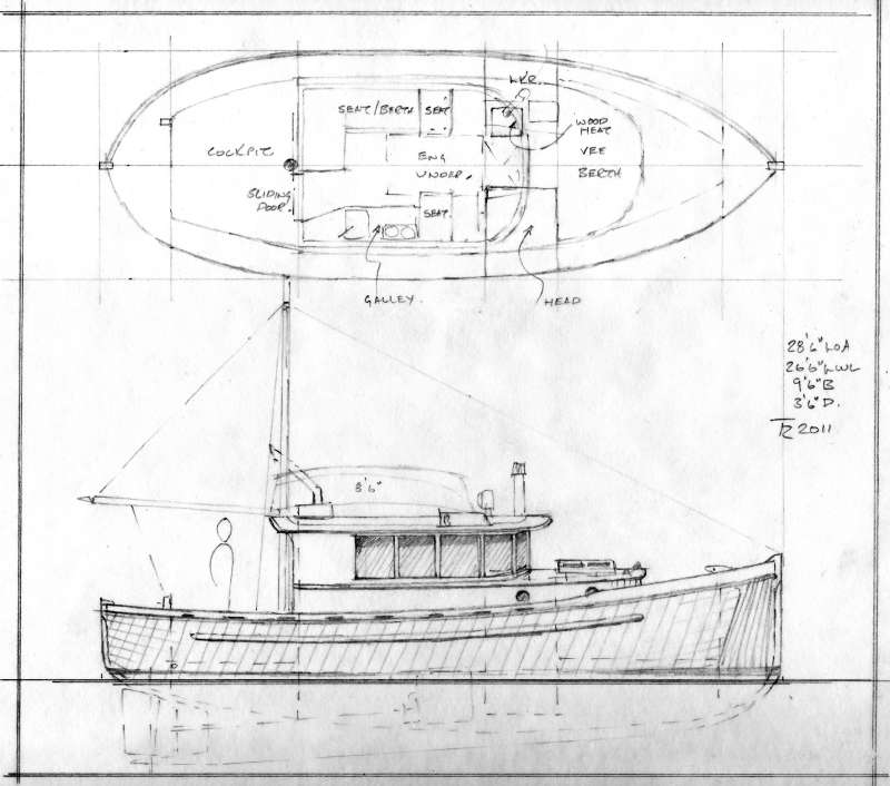 Looking for small fishing boat plans best boat builder plan for Garden design trawler boat