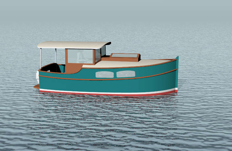 Shanty Boat as well Small Power Cruiser Boat Plans in addition Sims 2 ...