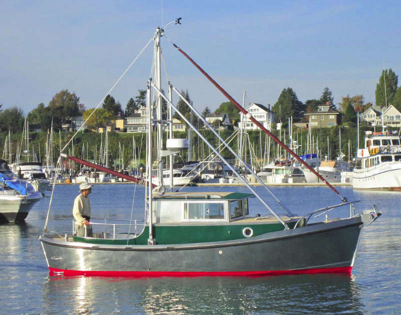 Timbercoast Troller 22, New Displacement Design for Bartender Boats ~ Small Boat Designs by Tad ...