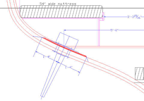 Construction drawing of a fin stabilizer