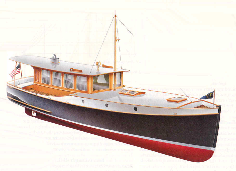 ... Classic Cruising Launch ~ Small Boat Designs by Tad Roberts