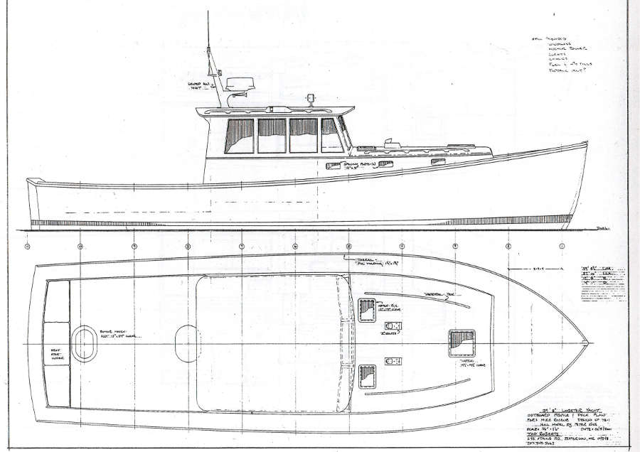 John's Bay Boat Lobsteryacht 40 ~ Power Boat Designs by Tad Roberts