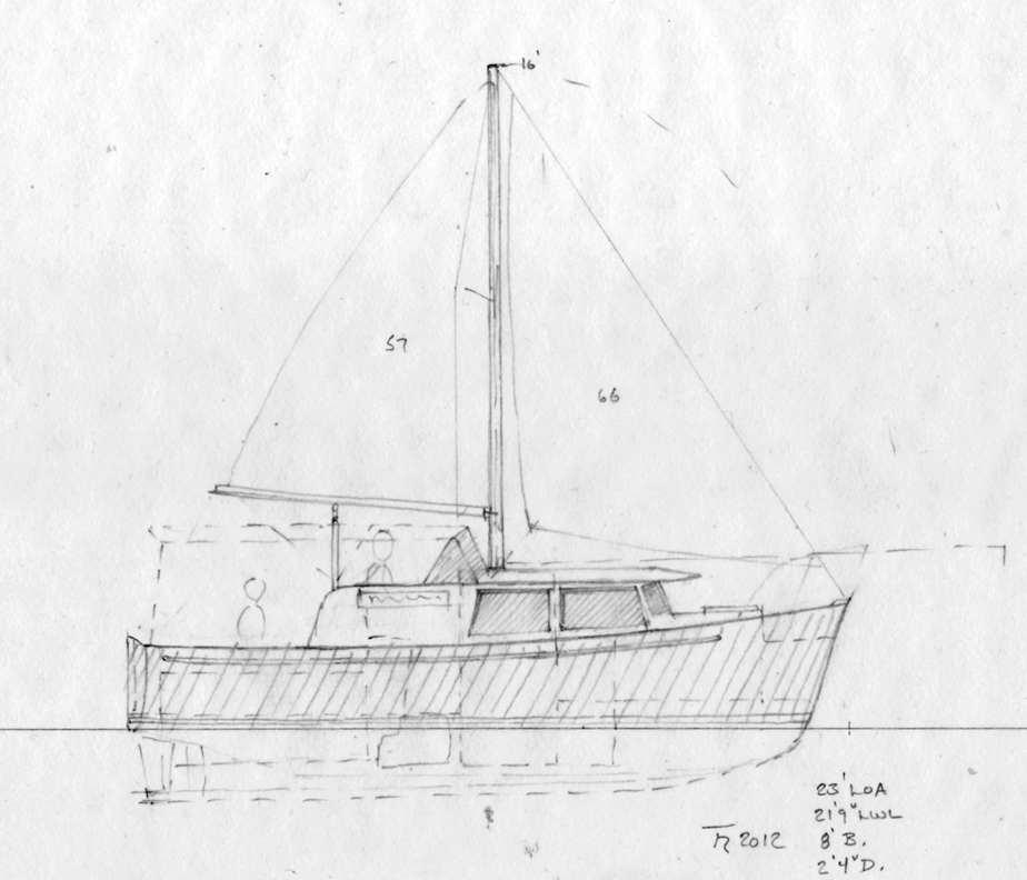 Garden bay 23 full displacement trailerable motor boat for Garden design troller boat
