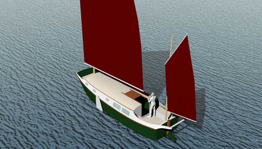 Harry II, 30' LOD, 27' LWL Sailing Scow ~ Small Boat ...