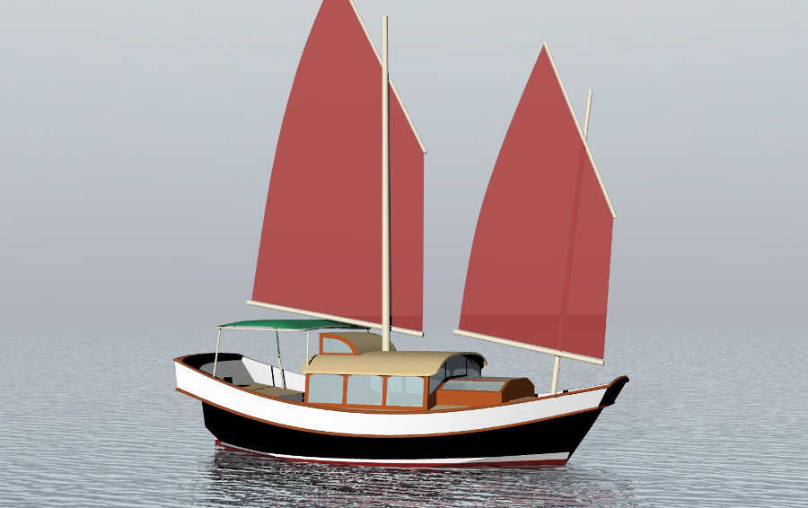 Sail Boats Under 29'~ Small Boat Designs by Tad Roberts