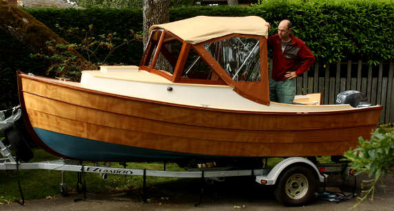 Nomad 16 Lapstrake Runabout. Classic Styling, Good Performance, 70HP ~ Small Boat Designs by Tad ...