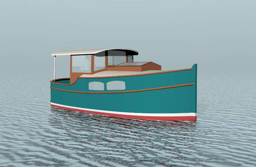 Small Self Powered House Barges and Shanty Boats Under 29
