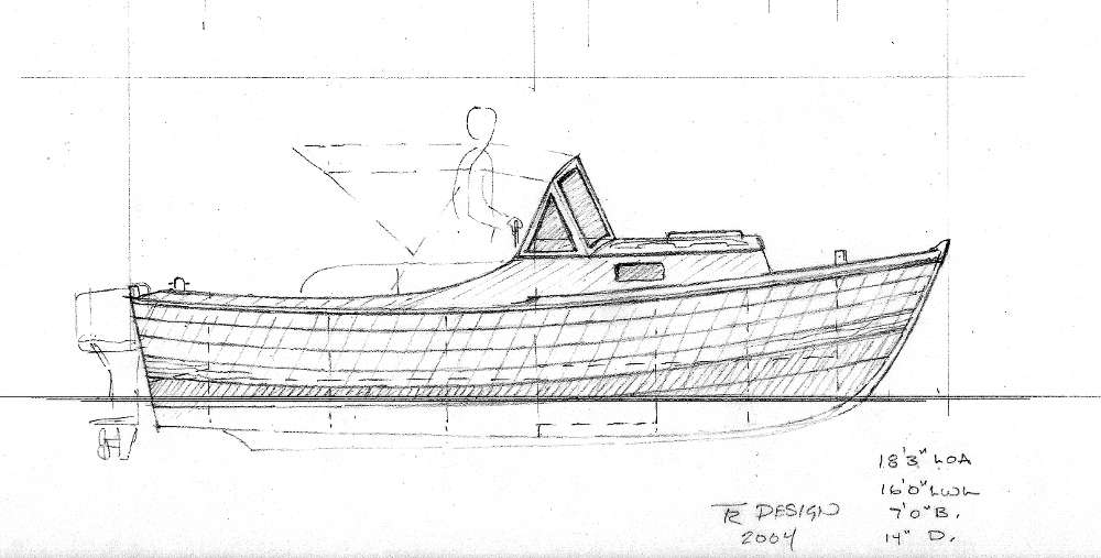 18' Runabout Power Skiff ~ Planing & Semi-displacement Boats Under 29'~ Small Boat Designs by ...