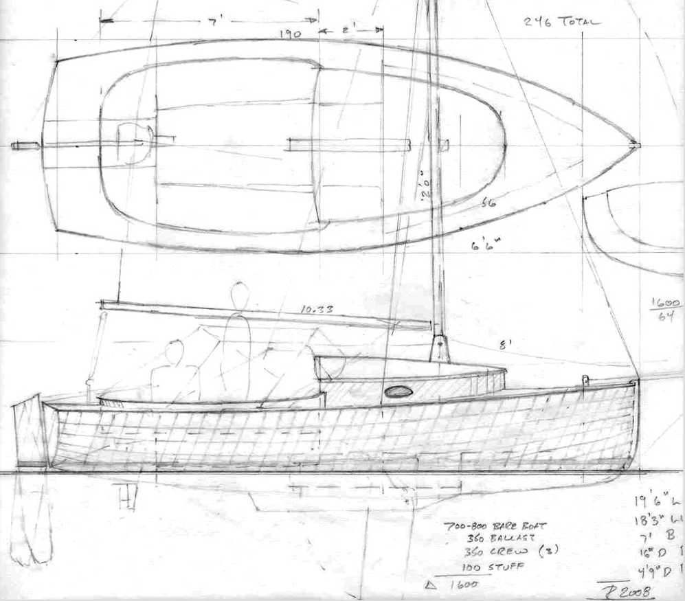 19 5 Quot Sailing Scooter Small Boat Designs By Tad Roberts