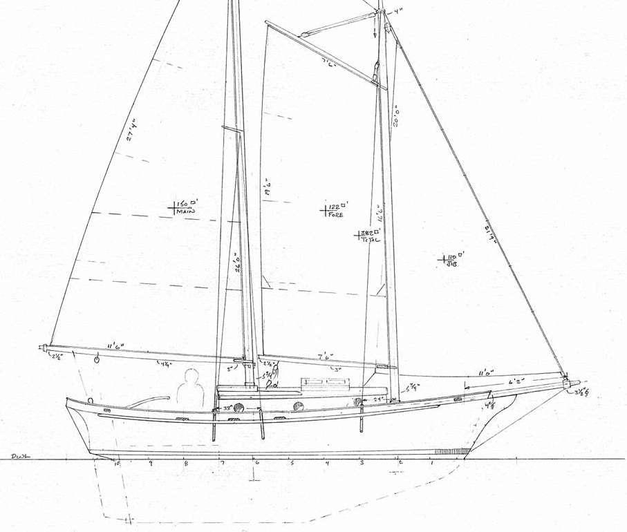 Small Yacht Kitchen Design: 25' Full Keel Schooner Big Saturnina, Modeled On The Small