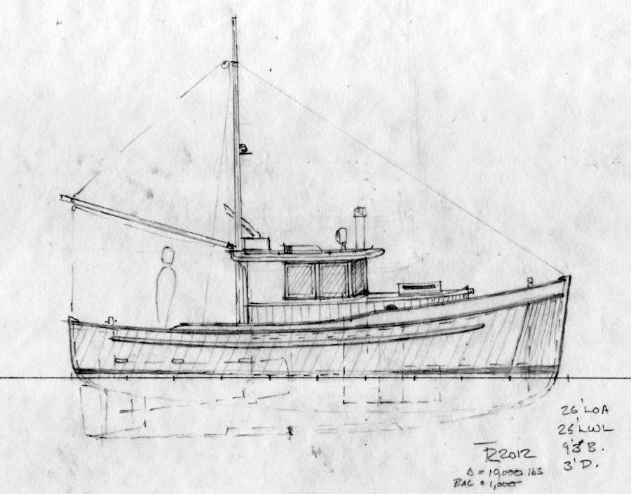Northcoast 26 double ended wooden cruiser schooner rig for Garden design troller boat